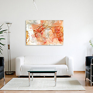 Empire Art Direct Coral Lace I Frameless Free Floating Tempered Glass Panel Graphic Wall Art, , rollover
