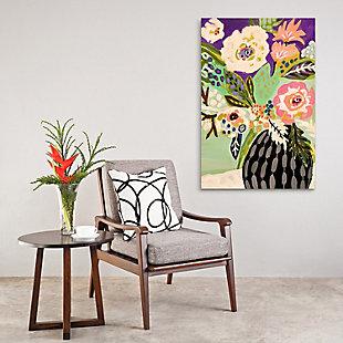Empire Art Direct Fresh Flowers in Vase I Frameless Free Floating Tempered Art Glass Wall Art, , rollover