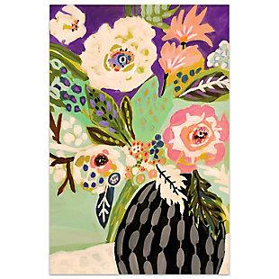 Empire Art Direct Fresh Flowers in Vase I Frameless Free Floating Tempered Art Glass Wall Art, , large