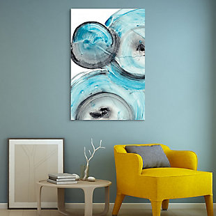 Empire Art Direct Ripple Effect IV Frameless Free Floating Tempered Glass Panel Graphic Wall Art, , rollover
