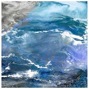Empire Art Direct Glistening Tide B Frameless Free Floating Tempered Art Glass Wall Art, , large