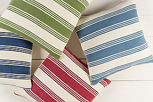 "Anchor Bay Nautical Stripe 18"" Throw Pillow, , rollover"