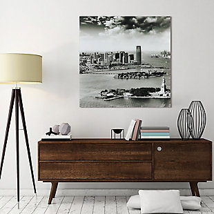 Empire Art Direct New York Skyline A Frameless Free Floating Tempered Glass Panel Graphic Wall Art, , rollover