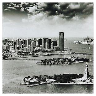 Empire Art Direct New York Skyline A Frameless Free Floating Tempered Glass Panel Graphic Wall Art, , large