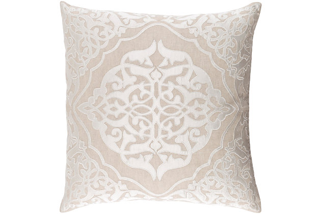 "Adelia Medalian 18"" Throw Pillow, , large"
