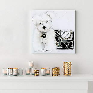 Empire Art Direct Black and White Frameless Free Floating Tempered Glass Panel Graphic Wall Art, , rollover