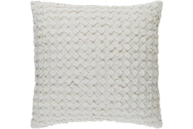 """Ashlar Textured 22"""" Throw Pillow, , large"""