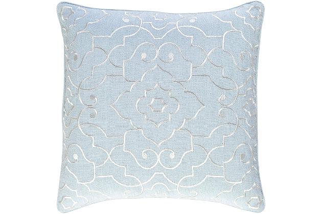 """Adagio Floral Design 20"""" Throw Pillow, , large"""