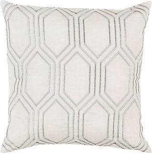 "Skyline Ivory Geometric 18"" Throw Pillow, , rollover"