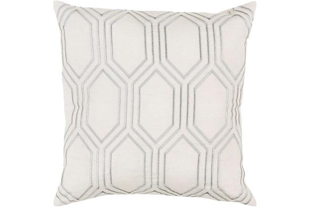 "Skyline Ivory Geometric 18"" Throw Pillow, , large"