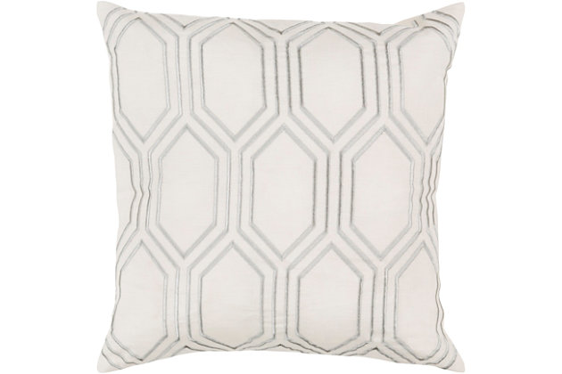 "Skyline Ivory Geometric 20"" Throw Pillow, , large"