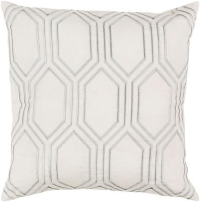 "Skyline Navy Geometric 18"" Throw Pillow, Beige/Medium Gray, large"