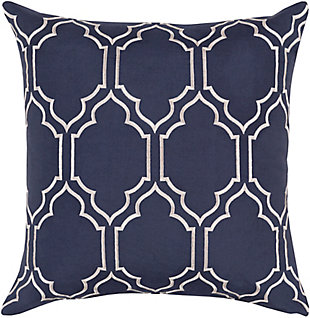 "Skyline Navy Geometric 20"" Throw Pillow, , large"