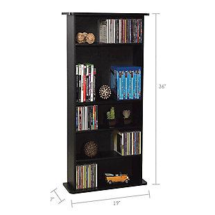 ATLANTIC Drawbridge CD & DVD Multimedia Cabinet, , rollover