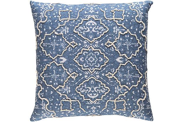 """Batik Pattern 20"""" Throw Pillow, , large"""