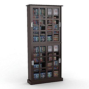 ATLANTIC Windowpane Media Cabinet (720-CD Capacity), , rollover