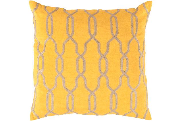"Puerton Trellis Design 18"" Throw Pillow, , large"