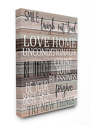 Stupell Inspirational Be You Phrases On Wood Grain Brown Black Text 36 X 48 Canvas Wall Art, Brown, large