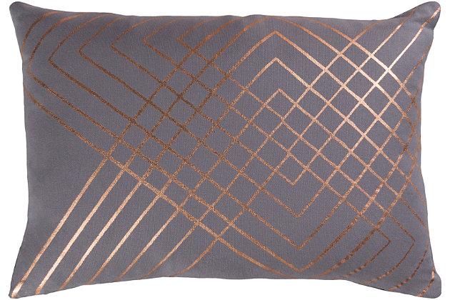 """Porton Geometric 13""""x19"""" Throw Pillow, , large"""