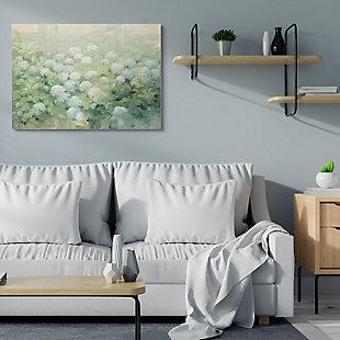 Stupell Floral Blue White Hydrangea Garden Farmhouse Painting 36 X 48 Canvas Wall Art, Green, rollover