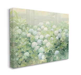 Stupell Floral Blue White Hydrangea Garden Farmhouse Painting 36 X 48 Canvas Wall Art, Green, large