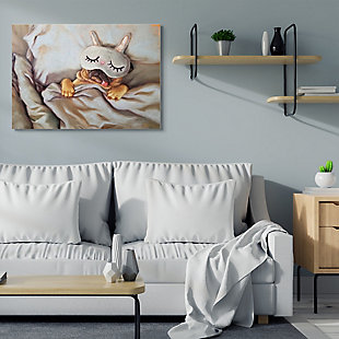 Stupell Dog Nap Relaxation Pet Animal Humor Self-care 36 X 48 Canvas Wall Art, Gray, rollover