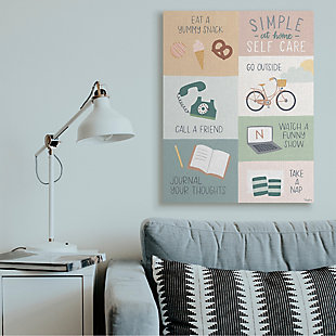 Stupell Simple Home Self Care Advice Stay Positive Design 36 x 48 Canvas Wall Art, Green, rollover