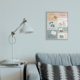 Stupell Simple Home Self Care Advice Stay Positive Design 16 x 20 Framed Wall Art, Green, rollover