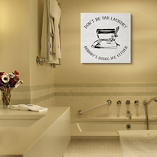 Stupell Nobody is Doing the Laundry Sassy Cleaning Humor 36 x 36 Canvas Wall Art, White, rollover