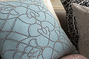 "Dotted Pirouette Beaded 22"" Throw Pillow, , rollover"