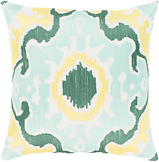 "Effulgence Mint Medallion 18"" Throw Pillow, , rollover"