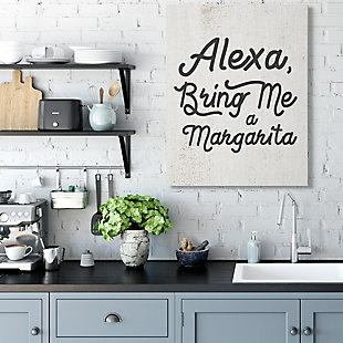 Stupell Alexa Bring Me Margarita Distressed Kitchen Sign 36 X 48 Canvas Wall Art, Beige, rollover