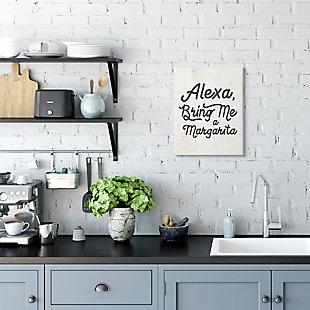 Stupell Alexa Bring Me Margarita Distressed Kitchen Sign 13 x 19 Wood Wall Art, Beige, rollover
