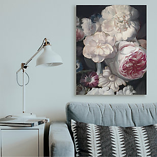 Stupell Blushing Floral Petals Enchanting Pink White Flowers 36 X 48 Canvas Wall Art, Gray, rollover