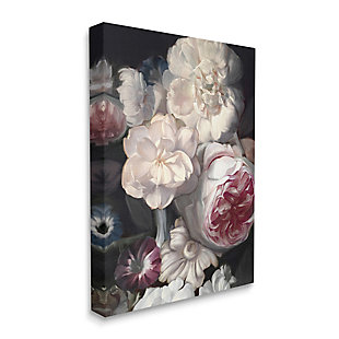 Stupell Blushing Floral Petals Enchanting Pink White Flowers 36 X 48 Canvas Wall Art, Gray, large