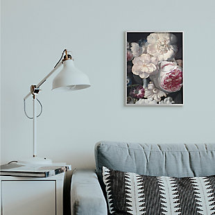 Stupell Blushing Floral Petals Enchanting Pink White Flowers 16 x 20 Framed Wall Art, Gray, rollover