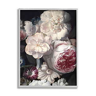 Stupell Blushing Floral Petals Enchanting Pink White Flowers 16 x 20 Framed Wall Art, Gray, large
