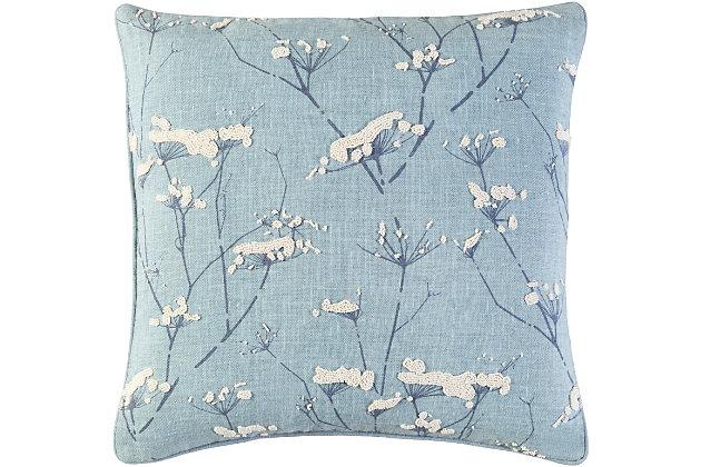 "Enchanted Floral 18"" Throw Pillow, , large"