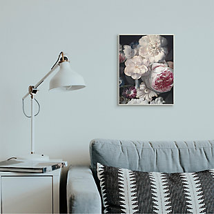 Stupell Blushing Floral Petals Enchanting Pink White Flowers 13 x 19 Wood Wall Art, Gray, rollover