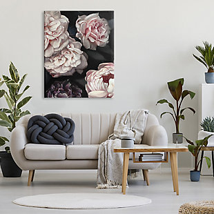 Stupell Clustered Pink and White Florals Elegant Flowers 36 x 48 Canvas Wall Art, Gray, rollover