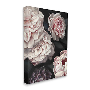 Stupell Clustered Pink and White Florals Elegant Flowers 36 x 48 Canvas Wall Art, Gray, large