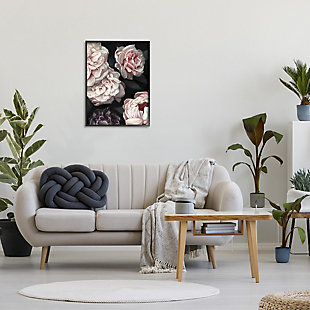Stupell Clustered Pink and White Florals Elegant Flowers 24 x 30 Framed Wall Art, Gray, rollover