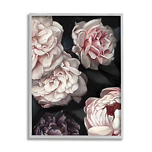 Stupell Clustered Pink And White Florals Elegant Flowers 24 X 30 Framed Wall Art, Gray, large