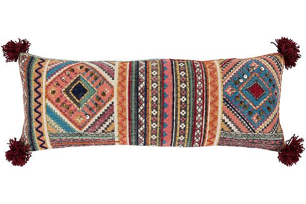 "Coton Woven 12"" x 30"" Throw Pillow, , large"