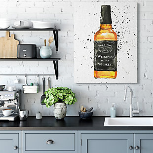 Stupell Weekends Are For Whiskey Quote Liquor Bottle 36 X 48 Canvas Wall Art, White, rollover