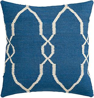 "Felicity Blue Diamond Pattern 22"" Throw Pillow, , large"
