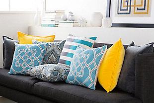 "Jorden Geometric Pattern 18"" Throw Pillow, , rollover"