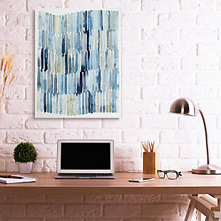 Stupell Nautical Inspired Abstraction Blue Beige Blocked Lines 36 X 48 Canvas Wall Art, Blue, rollover