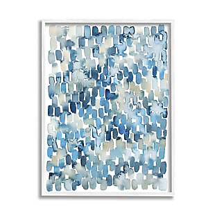 Stupell Coastal Tile Abstract Soft Blue Beige Shapes 24 X 30 Framed Wall Art, Blue, large