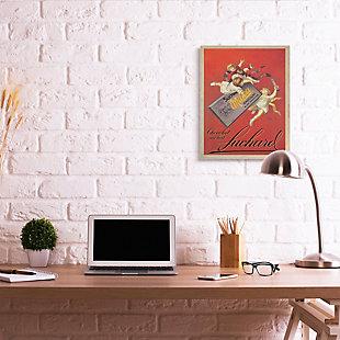 Stupell Chocolat Au Lait Vintage European Advertisement 24 X 30 Canvas Wall Art, Red, rollover